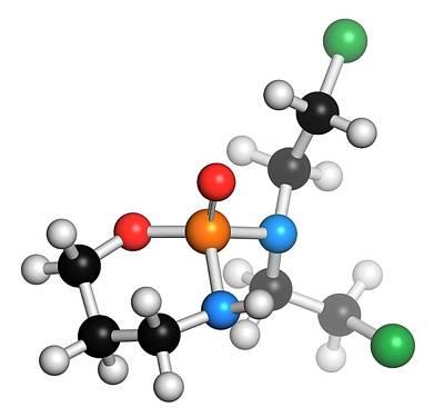 Molecule Photograph - Cyclophosphamide Cancer Drug Molecule by Molekuul