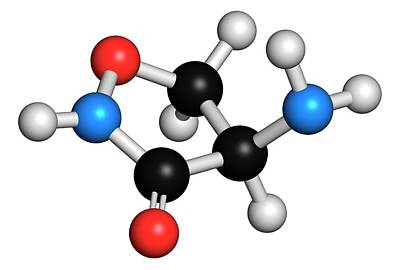 Chemical Photograph - Cycloserine Tuberculosis Drug Molecule by Molekuul
