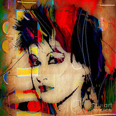 Colorful Art Mixed Media - Cyndi Lauper Collection by Marvin Blaine