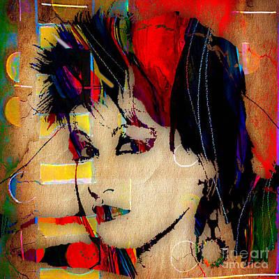 Cyndi Mixed Media - Cyndi Lauper Collection by Marvin Blaine
