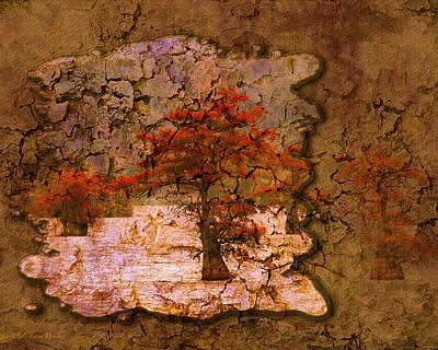 Digital Art - Cypress - Abstract by J Larry Walker