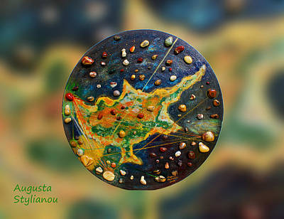 Planet Earth Mixed Media - Cyprus Planets by Augusta Stylianou