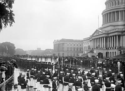 Marching Band Photograph - Czech Reception, 1919 by Granger
