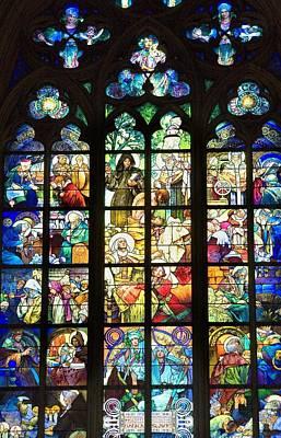 Coloured Glass Photograph - Czech Rep.. Prague. Saint Vitus by Everett