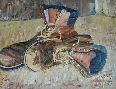 Dad's Work Shoes Art Print