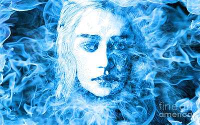 Daenerys Targaryen Bride Of Fire Mother Of Dragons Art Print by The DigArtisT