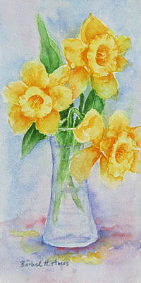 Painting - Daffodils by Barbel Amos