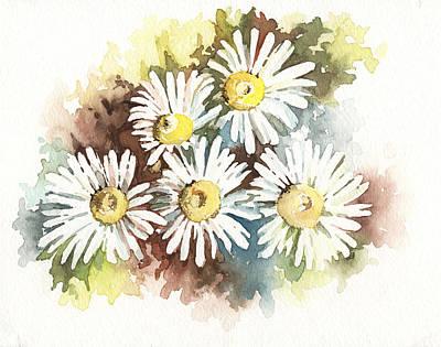 Art Print featuring the painting Daisies by Natasha Denger