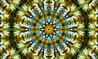 Kaleidoscope Daisy Mae Art Print