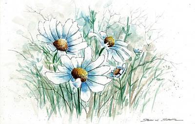 Daisy Patch Art Print