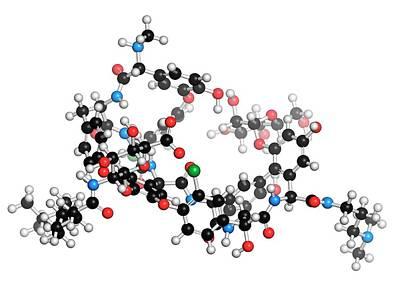 Molecule Photograph - Dalbavancin Antibiotic Molecule by Molekuul