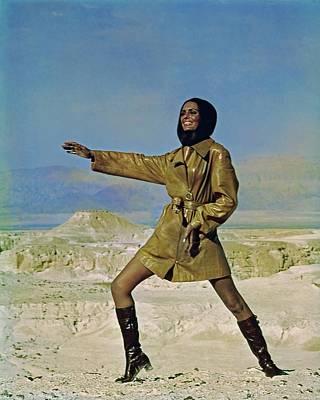 Photograph - Daliah Lavi Wearing A Beged-or Coat by John Cowan