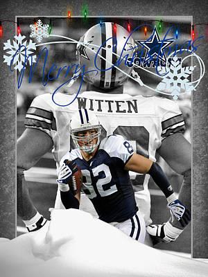 Dallas Cowboys Christmas Card Art Print by Joe Hamilton