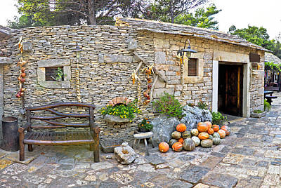 Photograph - Dalmatian Old Stone Village Street by Brch Photography
