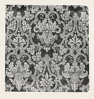 Damask Drawing - Damask Pattern by Shephard And Co., Halifax, English, 19th Century