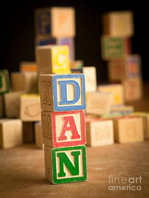 Dan - Alphabet Blocks Art Print
