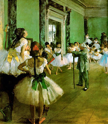 Degas Digital Art - Dance Class  by Edgar Degas