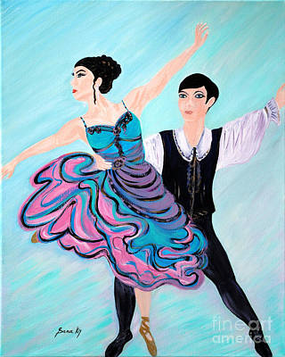 Painting - Dance. Inspirations Collection. by Oksana Semenchenko