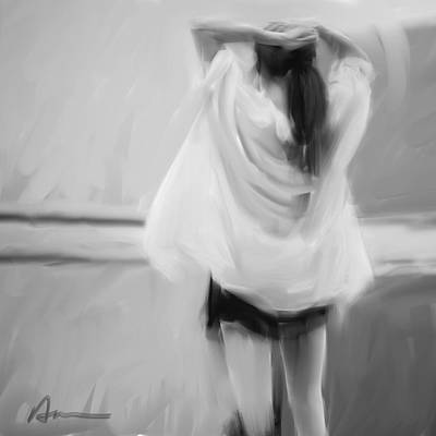 Ponytail Painting - Dancer by H James Hoff
