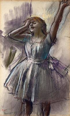 Dancer Stretching Art Print