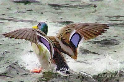 Painting - Dancing Bird by Sylvia  Niklasson