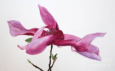 Painting - Dancing Magnolia Series 1 by Kyong Burke