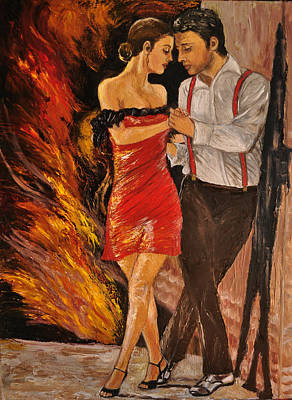 Painting - Dancing The Tango by Terry Sita