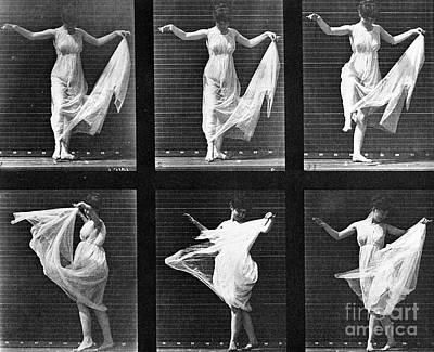 Eadwerd Photograph - Dancing Woman by Eadweard Muybridge