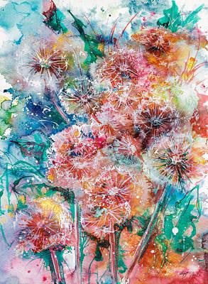 Dandelion Painting - Dandelion by Kovacs Anna Brigitta