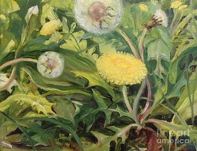 Painting - Dandelions by Amie Ziner