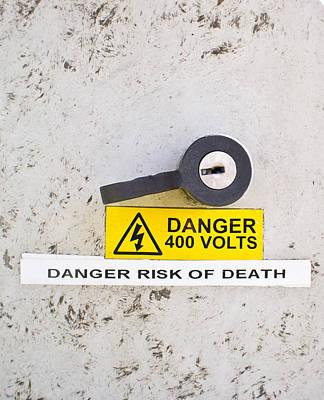Shock Photograph - Danger Of Death by Tom Gowanlock