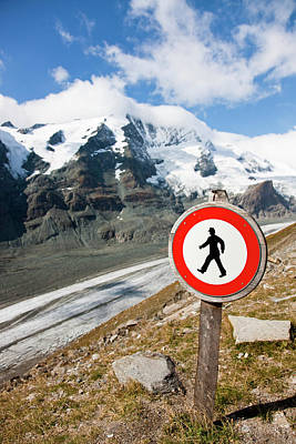 Traffic Signs Photograph - Danger Zone Alps And Mountains by Martin Zwick