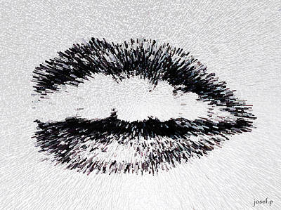 Dangerous Lips Art Print by Sir Josef - Social Critic - ART