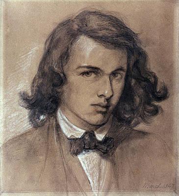 Self-portrait Drawing - Dante Gabriel Rossetti (1828-1882) by Granger