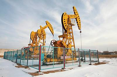 Oil Pump Photograph - Daqing Oil Field by Ashley Cooper