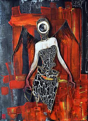 H.r. Giger Painting - Dark Angel Eye by Jakub DK