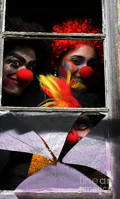Dark Carnival Clowns Art Print