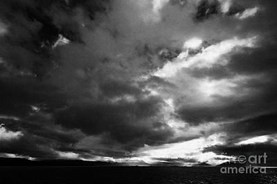 Navarino Photograph - dark clouds over the Beagle Channel and Isla Navarino Tierra Del Fuego Chile and Argentina by Joe Fox