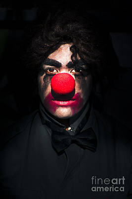 Photograph - Dark Scary Clown by Jorgo Photography - Wall Art Gallery