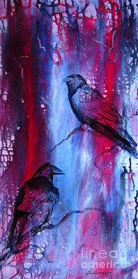 North American Wildlife Painting - Dark Wings by Laurianna Taylor