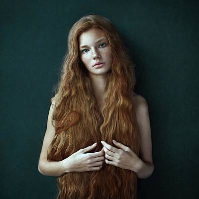 Redhead Photograph - Dasha by Alexander Vinogradov