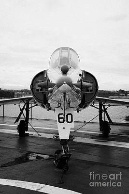 Dassault Etendard Iv M Ivm On Display On The Flight Deck At The Intrepid Sea Air Space Museum Art Print by Joe Fox