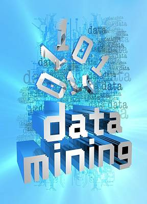 Data Photograph - Data Mining by Victor Habbick Visions