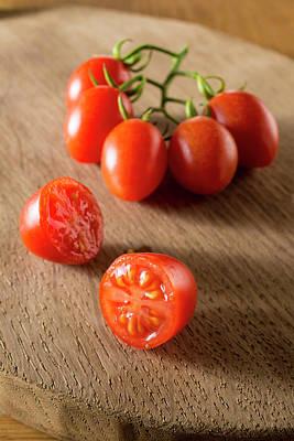 Cherry Tomato Photograph - Datterino Tomatoes by Aberration Films Ltd