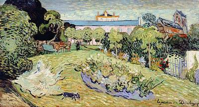 Contemporary Symbolism Painting - Daubigny's Garden by Vincent van Gogh
