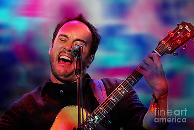 Lead Singer Mixed Media - Dave Matthews by Marvin Blaine