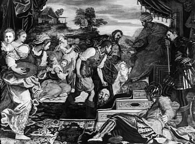David And Goliath Art Print by Granger