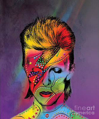 Cute Cartoon Photograph - David Bowie by Mark Ashkenazi