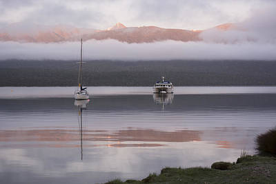 Aotearoa Photograph - Dawn At Lake Te Anau by Rob Hill