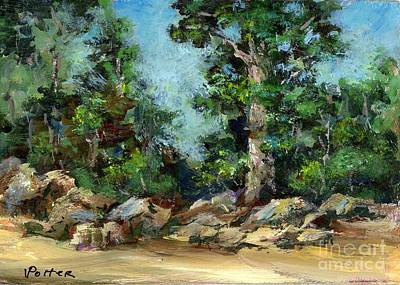 Painting - Rocks Along The Road by Virginia Potter